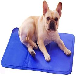 Yaojun Travel Dog Pet Ice Pad, Dog Cooling Mat Anti-Biting Summer Cooling Pet Solid Ice Pad Great for Dogs Cats to Stay Cool This Summer (Blue),S Travel