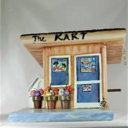 Unique Grocery Store Birdhouse , Handmade , Hand Painted with Ice Ma ne and Cola Ma ne