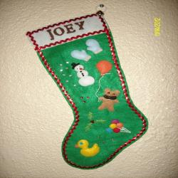 Custom-made S dingStockings are personalized Christmas stockings, hand stitched to order, in the color and design of your choice.