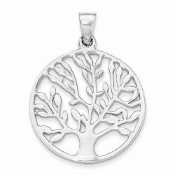 Sterling Silver Tree of Life Round Pend t Charm