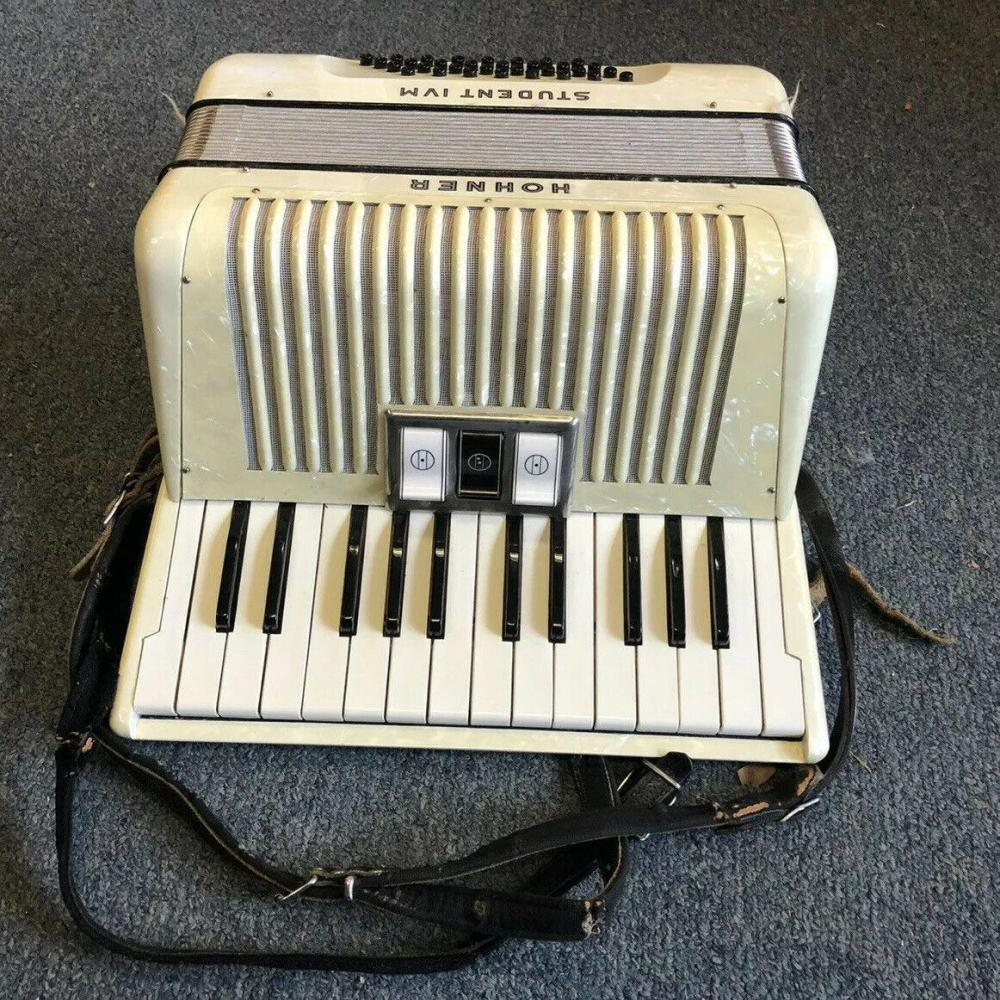 Vintage Hohner Student IVM Accordion With Case