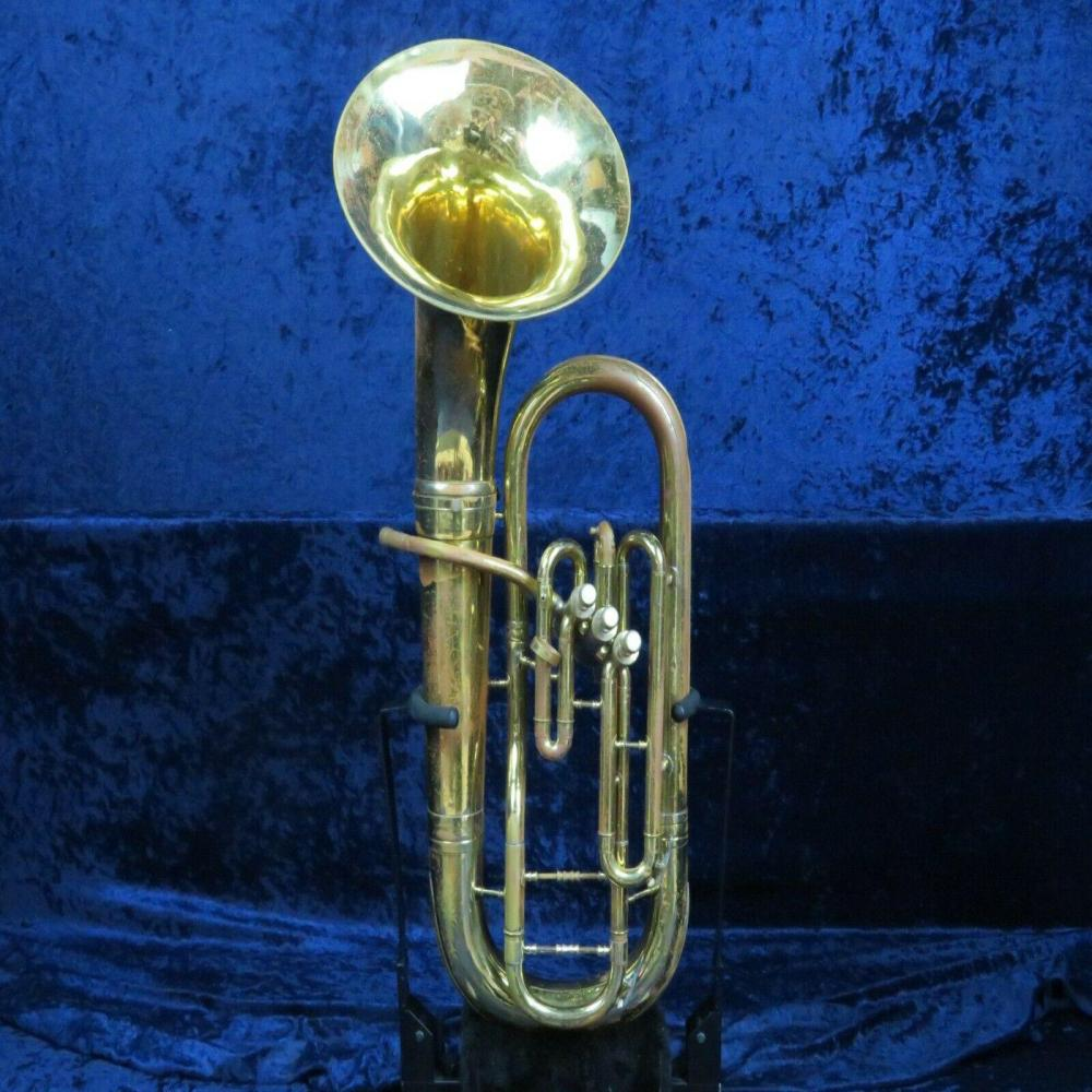 **Conn 3 Valve Baritone Horn Ser#C16584 Detachable Bell Easy Player Open Sound!