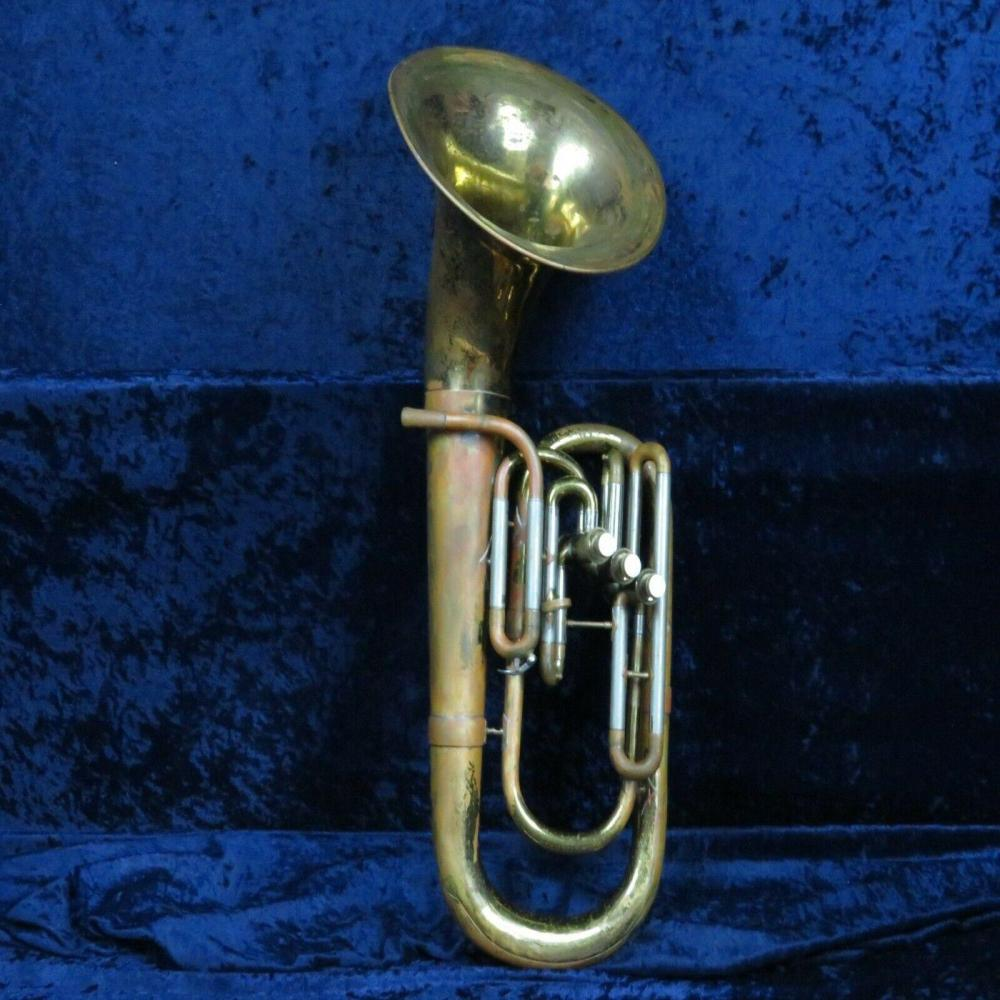*Besson Stratford 3 Valve Baritone Horn Ser#301493 Plays with Big Besson Sound*