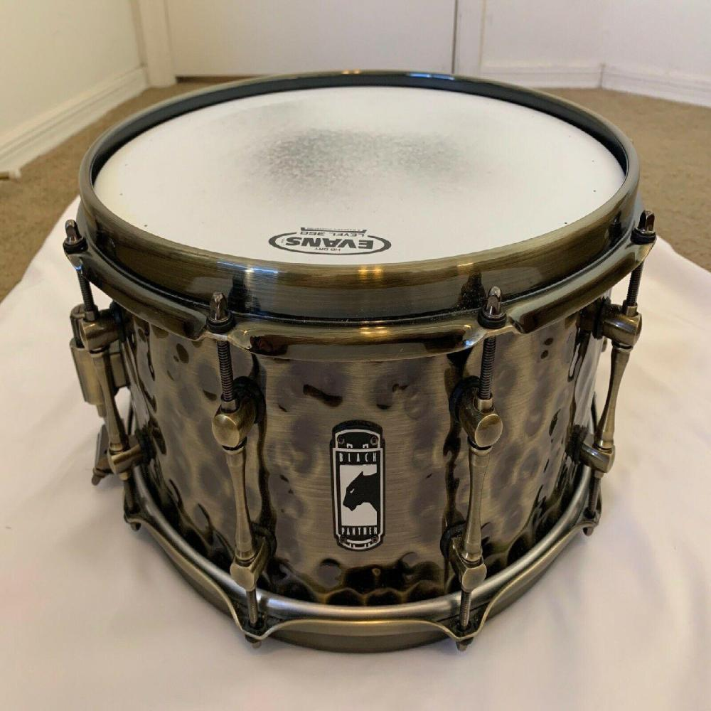 ** Mape Panther Sledgehammer ** 6.5 X14 ** BRASS snare drum ** USED **