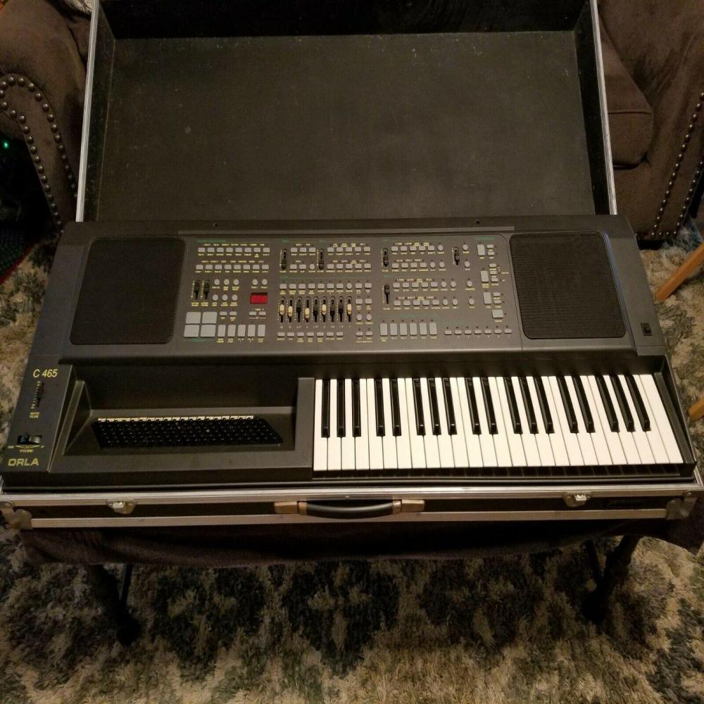 Vintage Orla C 465 Accordion Keyboard Piano Synthesizer Untested As Is