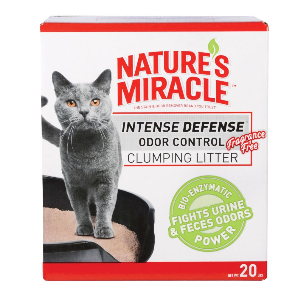 Natures Miracle Intense Defense Odor Control Litter 20 Pounds, Just For Cats, Fragrance Free