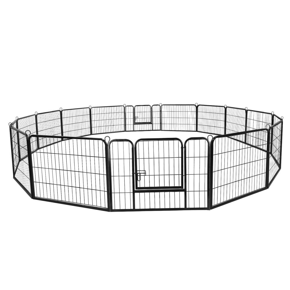 Zeny Heavy Duty Metal Dog Playpen, 16 Panels, 24