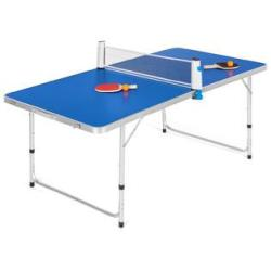 Best Choice Products BCP 58in Portable Folding Ping Pong Table Game Set w/ Balls, Paddles, Net