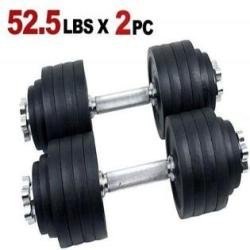 105lbs adjustable dumbbell set - One Pair of Adjustable Dumbbells Kits - 105 Lbs (52.5lbs X 2pc)