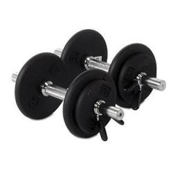 Ader Sporting Goods Ader Black Dumbbell Set (30 Lbs) Picture for Reference