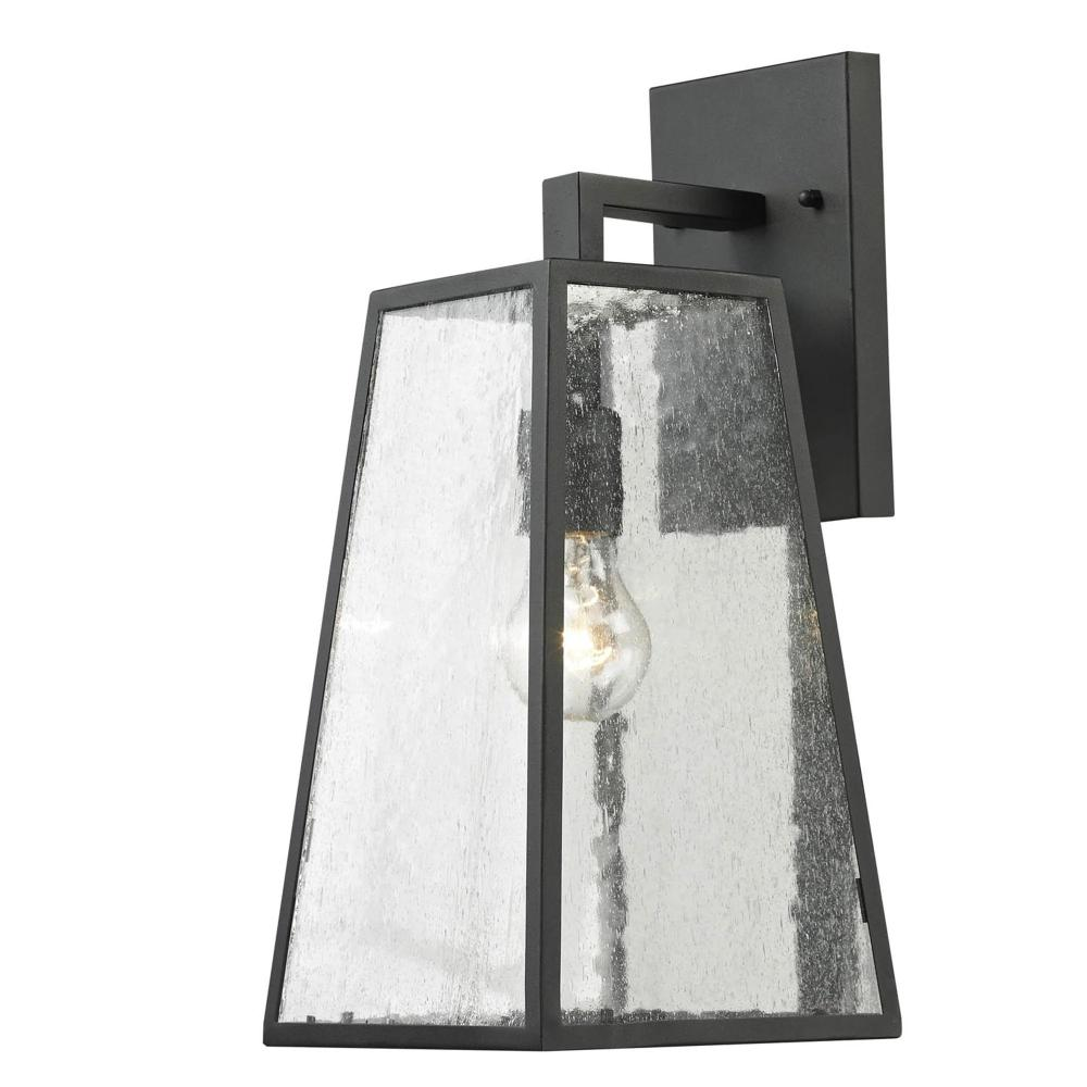 1 Light Outdoor Wall Mounted Lighting In Imperial Black Finish