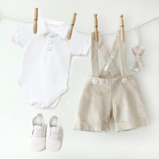 Baby Boy Linen Outfit, Toddler Linen Suit, Natural Linen Shorts, Linen Baptism Outfit,Boys Linen Suit,Linen Baby Clothes,Ring Bearer Clothes