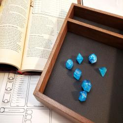Walnut RPG dice tray - Customize - Pathfinder, D&D, Dungeons and Dragons, rolling surface, dice box