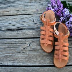 Greek sandals~ Unisex Kids' Shoes leather/ Hermes sandals for boys make Spartan Roman shoes for children.