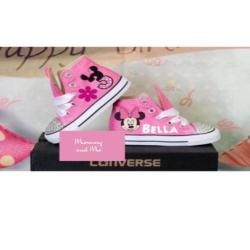 Minnie Mouse Converse  1, Personalized Converse, Custom Converse,, Bedazzled Converse, Birthday Outfit ,bling converse