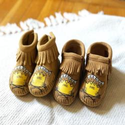 Custom Wild Things Wild One Baby Booties Moccasins