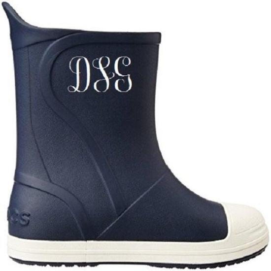 Custom Personalized Monogrammed/Embroidered Crocs Bump it Rain Boots