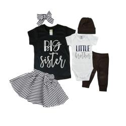 Big Sister/Little Brother Matching Sibling Set. Baby Shower Gift. Take Home Outfit. Matching Sibling Set