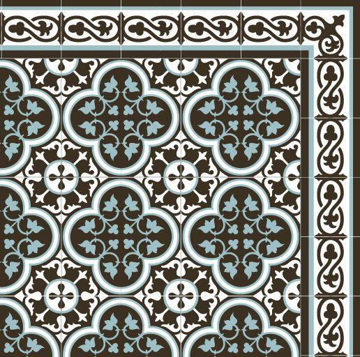 Dark brown & blue Kitchen Vinyl Mat, waterproof, easy to clean, custom size, Kitchen mat, Oriental maroccan design, livingroom decor #171