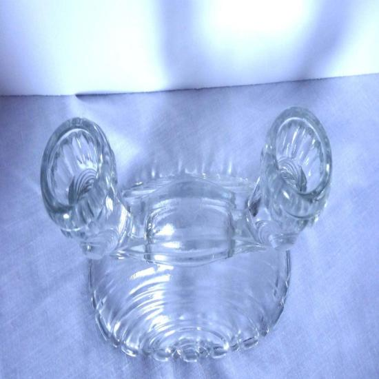 Clear Pressed Glass Candle Holder for Two Candles Home and Garden Decor Candle Holders