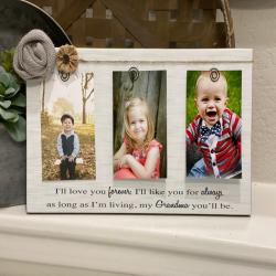 Mother's Day Gift for Grandma | Personalized Picture Frame for Grandma Mimi Gigi Nana - Personalize Quote With Any Name! 4 x 6 Frame