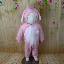 Pink Bunny Fce Baby Costume