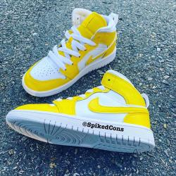 Custom Yellow & White Jordan 1 (Other colors Available when ordering)