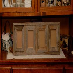 4-4x6 or 4-5x7 Barn Wood Collage Frame