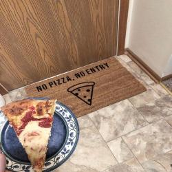 Pizza Doormat - Pizza Lovers' Gift Idea - Funny Welcome Mats - Pizza Home Decor - No Pizza, No Entry