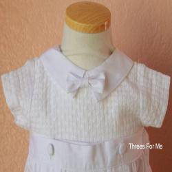 Boy baptism heirloom gown