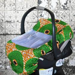 African Green Print Bug Cover for Baby, Baby Cover, Baby Wearing, Baby Shower Gift, Baby Wearing Cover, Baby Car Seat Cover