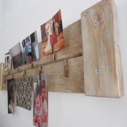 Multi Picture holder / Christmas card display /  Rustic / shabby chic wall hanging  / farmhouse wall hanging