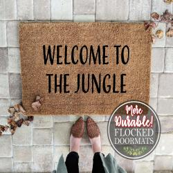 Welcome To the Jungle Doormat Funny Doormat Mothers Day Gift Mom Gift Welcome Mat Coir Doormat Front Porch Farmhouse Decor Custom Doormat