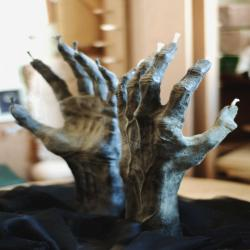 Hand of Glory beeswax candle