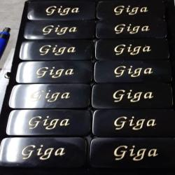 Personalized Engraved Black Double 6 dominoes,Tournament Size, Custom Domino