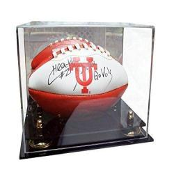Clear Acrylic MINI - Miniature (not full size) Football Display Case with Risers (A005)