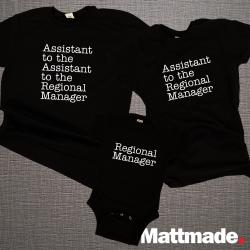 The Office Matching Family Set / Assistant to the Regional Manager / Regional Manager /   Dad Mom & Baby Matching Shirts / Father's Day