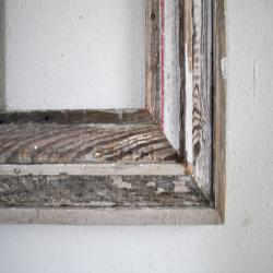 11 x 14 Weathered Window Wood Frame,  Reclaimed Window Sash, Distressed Worn Chippy White, Shades of Grey, and Natural,  One-of-Kind