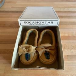 Pocahontas Moccasins Leather Beaded Natures Footwear