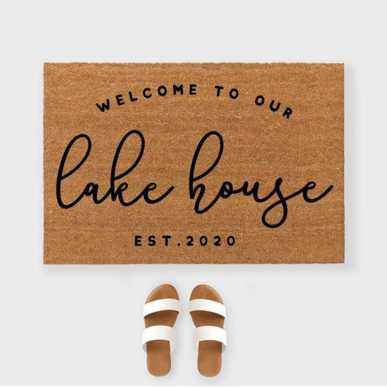 Welcome to our Lake house Doormat- Lake Life doormat- Custom Lake house doormat- Custom doormat - Lake house decor- Welcome to the lake