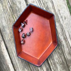 Fantasy Dice Game Leather Valet Tray