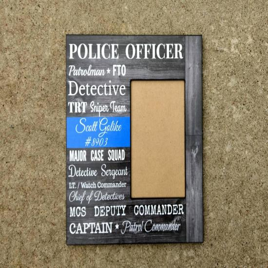 12x12 Personalized Police Officer Picture Frame, Police Retirement Gift, Custom Police Gift, Police Academy, Personalized Cop Decor, My Hero