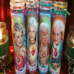 Golden Girls set of 4   - Dorothy, Sophia, Rose,Blanche, - Celebrity Saint Prayer Candle in new Tropical labels