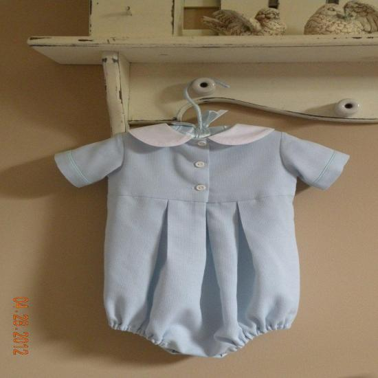 Baby Boy Hand Smocked Bubble Suit
