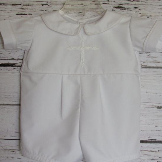 Baby Boy Baptism Romper Christening Romper Blessing Outfit Baby Dedication Wedding
