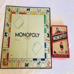 1954 Parker Brothers Trade Mark MONOPOLY Popular Edition