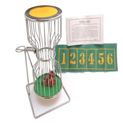 Vintage c.1950's Chuck-A-Luck Large Metal Dice Cage - Dice Rolling Cage Gambling Game - Chuck Luck Birdcage - Gambling Gaming Display Decor