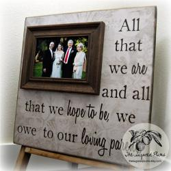 Parents Wedding Gift, Personalized Wedding Picture Frame for Mom and Dad 16x16