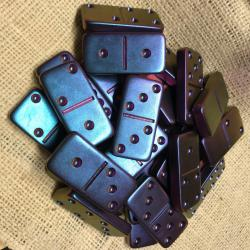 Customizable resin Domino double six set