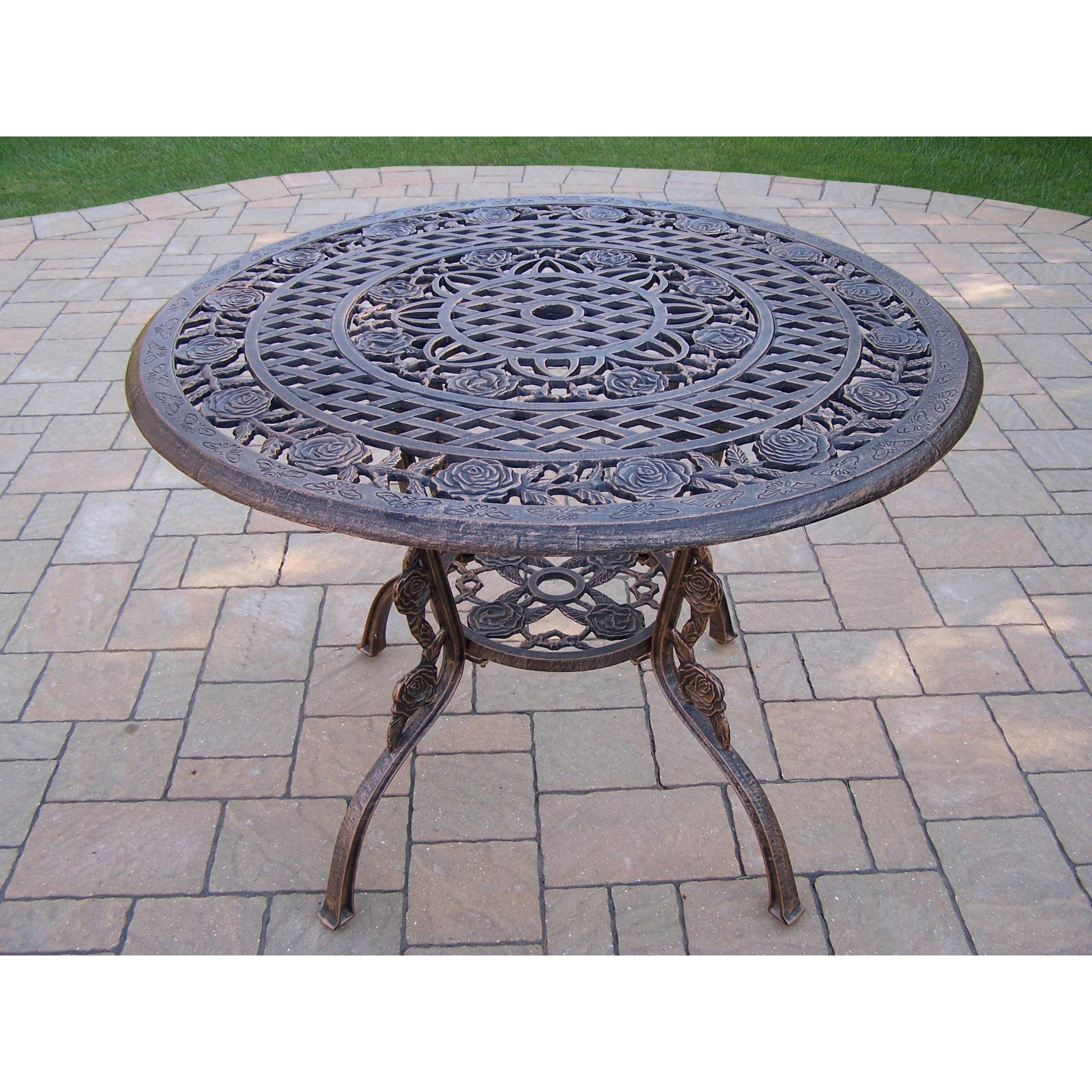 Oakland Living Corporation Queen Camellia Cast Aluminum 42-inch Dining Table